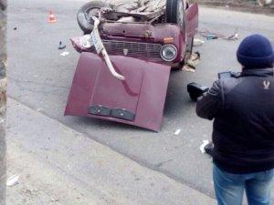 Фото: У Полтаві в ДТП перекинувся автомобіль