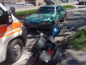 Фото: У Полтаві внаслідок ДТП постраждав мотоцикліст