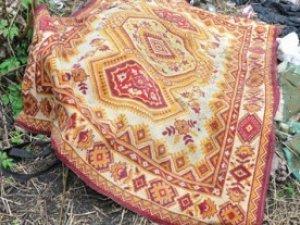 Фото: У Полтаві на Київському Шосе знайшли труп, накритий килимом