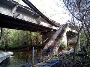 Фото: На Полтавщині обрушився міст: фото (оновлено)