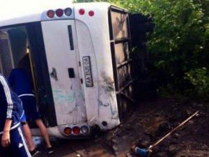 Фото: Автобус з юними «динамівцями» перекинувся на Полтавщині