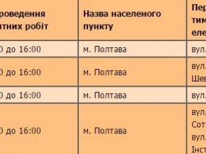 Фото: Полтавцям вимикатимуть електроенергію: графік з 21 червня