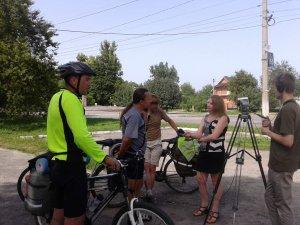 Фото: Учасники велопробігу «Вишиваний Шлях» побували у Пирятині