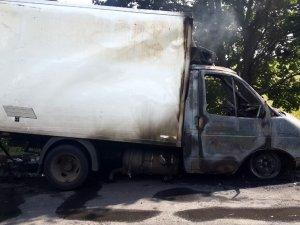 Фото: На Полтавщині горіла вантажівка