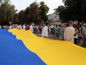Фото: Від 12-метрового стягу до салюту – як на Полтавщині відсвяткували День Державного Прапора України  (ФОТО)