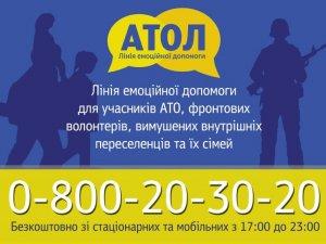 Менше волонтерів, більше бійців АТО: статистика звернень на лінію емоційної допомоги «АТОЛ»  (інфографіка)